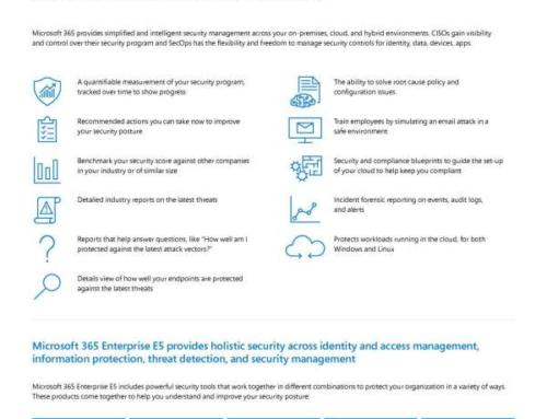 How can Microsoft help me understand my current security posture and get recommendations on how to improve?