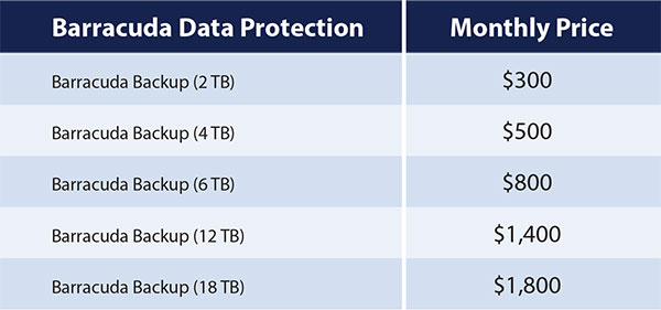Barracuda Backup Pricing