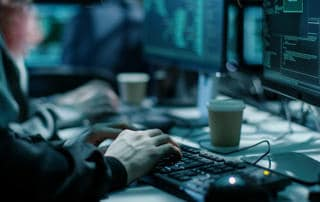 Hackers conducting a penetration test